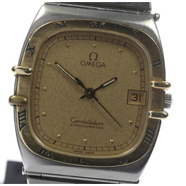 Omega Constellation Gold Plated / Stainless Steel Quartz 29mm Mens Watch