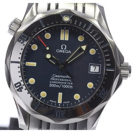 Omega Seamaster Professional 300 2552.80 Date Stainless Steel Navy Dial Automatic 36mm Mens Watch
