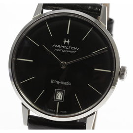 Hamilton Intra-Matic H384550 Stainless Steel / Leather Automatic 38mm Mens Watch
