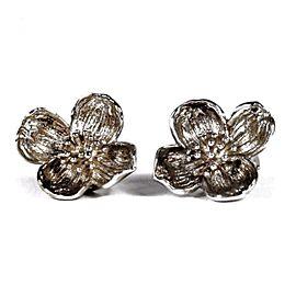 Tiffany & Co. Sterling Silver Dogwood Flower Earrings