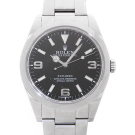 Rolex Explorer I 214270 Stainless Steel Automatic Black 39mm Mens Watch