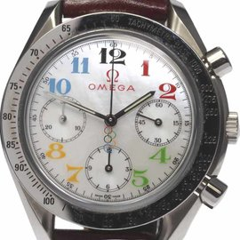 Omega Speedmaster 3836.7036 Stainless Steel / Leather Automatic 39mm Mens Watch