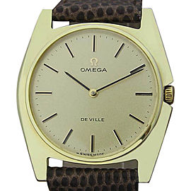 Omega DeVille Gold Plated 31mm Unisex Watch 1970s