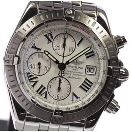 Breitling Chronomat Evolution A13356 Stainless Steel White Dial Automatic 44mm Men's Watch