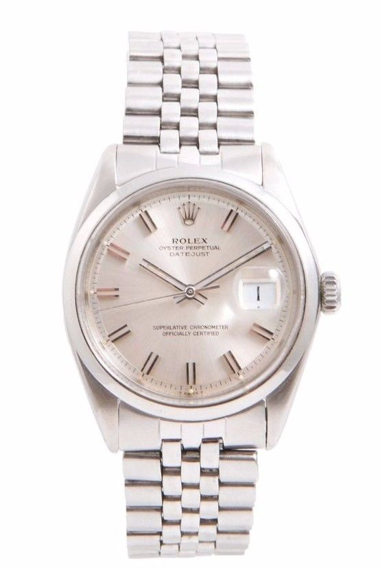 """Image of """"Rolex Datejust Wide Boy Stainless Steel Silver Stick Dial Jubilee"""""""