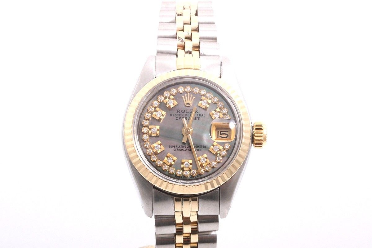 "Image of ""Rolex Datejust 2tone 14K Yellow Gold And Stainless Steel Tahitian"""