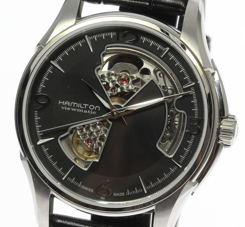 "Image of ""Hamilton Jazz Master H325650 Stainless Steel / Leather Automatic 41mm"""