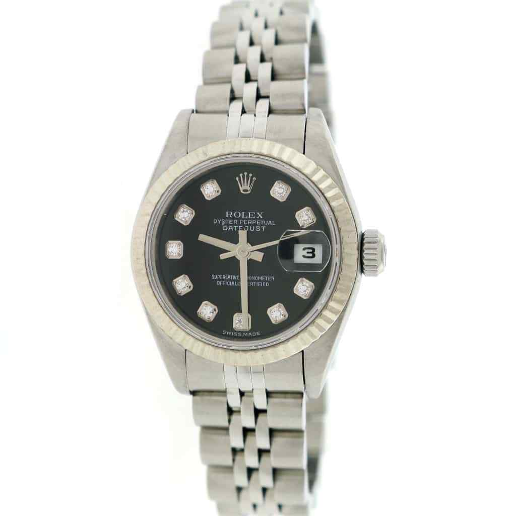 """Image of """"Rolex Datejust 79174 Stainless Steel Diamond 26mm Womens Watch"""""""