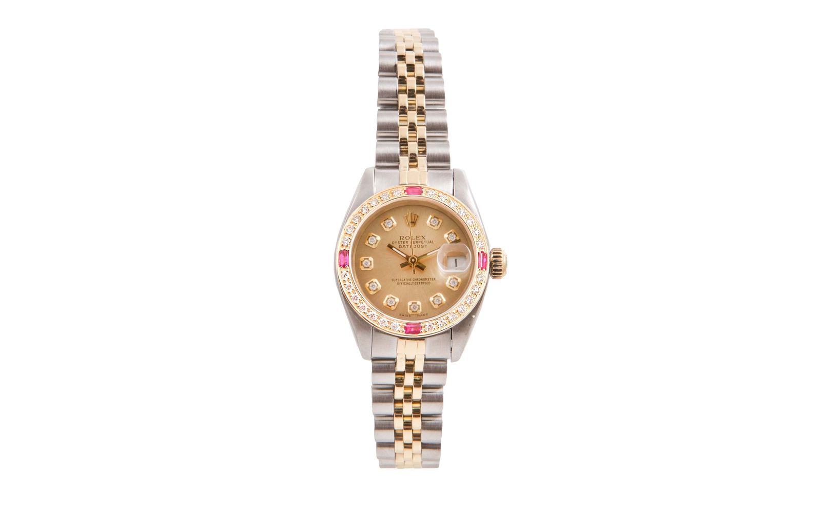 """Image of """"Rolex Datejust 18K Yellow Gold And Stainless Steel Champagne Diamond"""""""