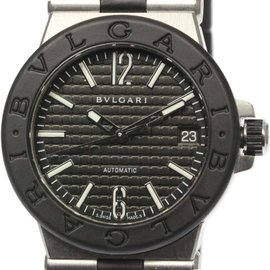 Bulgari Diagono DG35SV Stainless Steel and Rubber Automatic 35mm Mens Watch