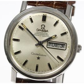 Omega Constellation Stainless Steel / Leather Automatic 35mm Mens Watch