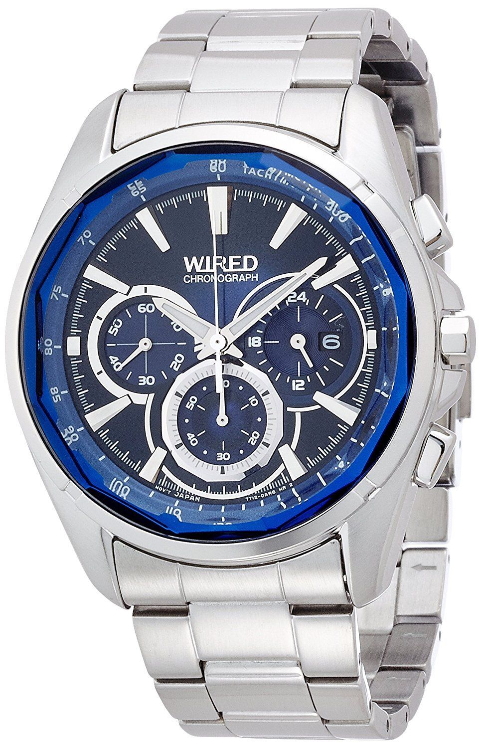 """Image of """"Seiko Wired Reflection Agav101 Stainless Steel Chronograph Quartz 43mm"""""""
