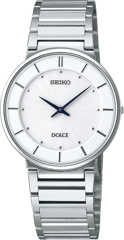 "Image of ""Seiko Dolce Sack015 Analog Stainless Steel White Dial Quartz 33mm Mens"""