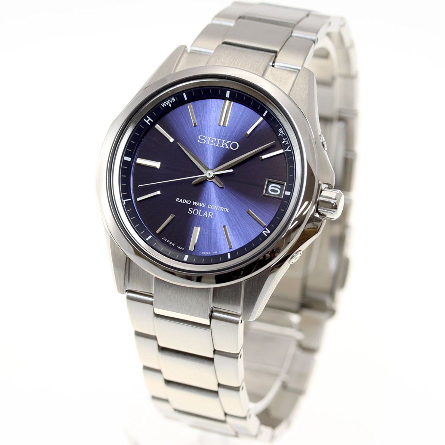 "Image of ""Seiko Selection Sbtm239 Stainless Steel Sapphire Glass Solar Navy Blue"""