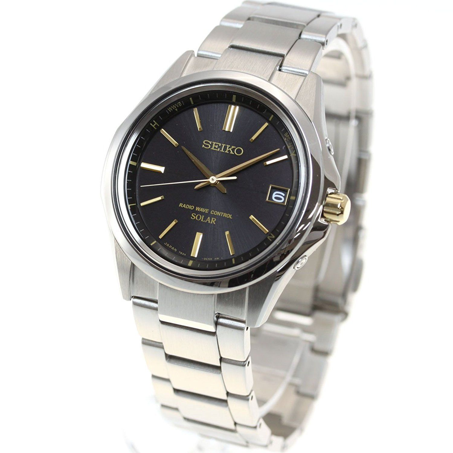 "Image of ""Seiko Selection Sbtm243 Stainless Steel Sapphire Glass Solar Black"""