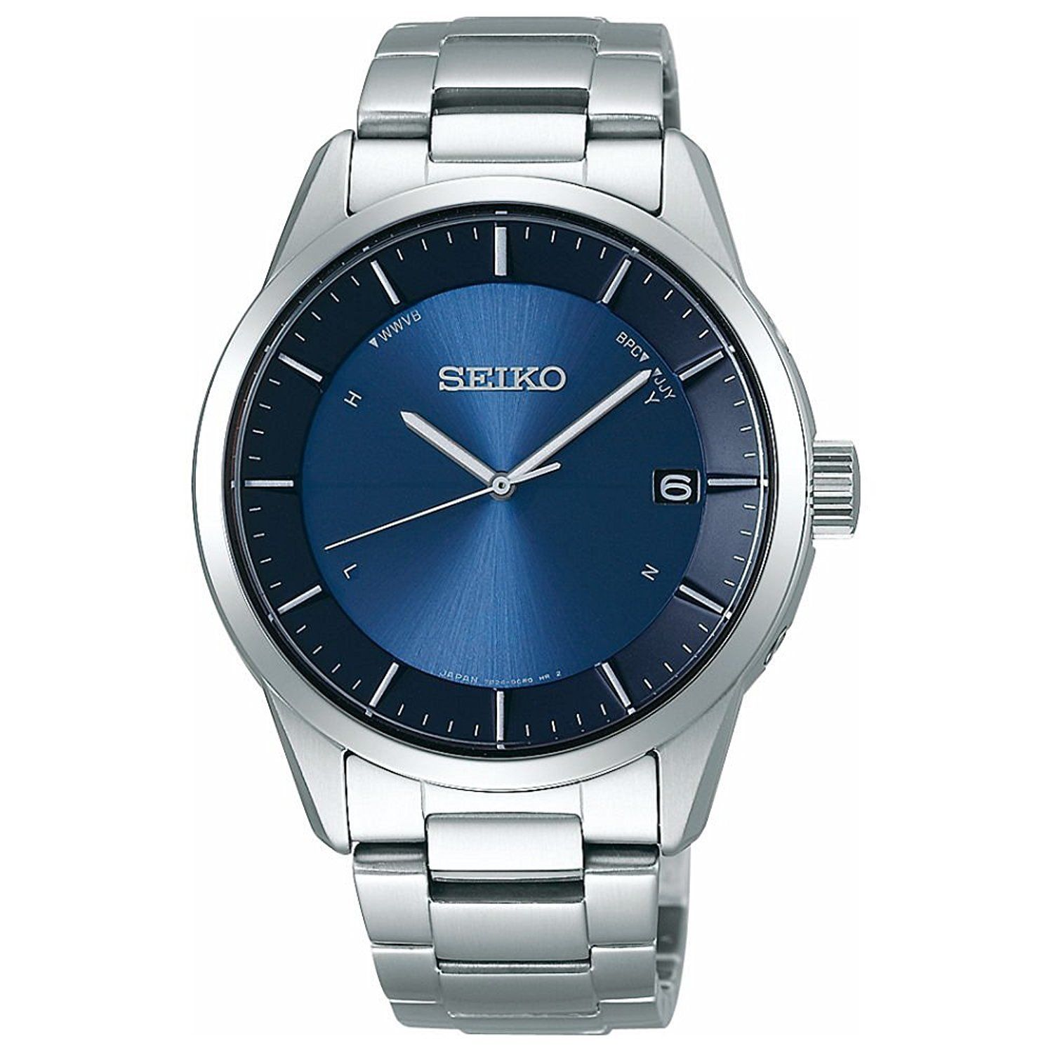"Image of ""Seiko Selection Sbtm247 Stainless Steel Sapphire Glass Solar Blue"""