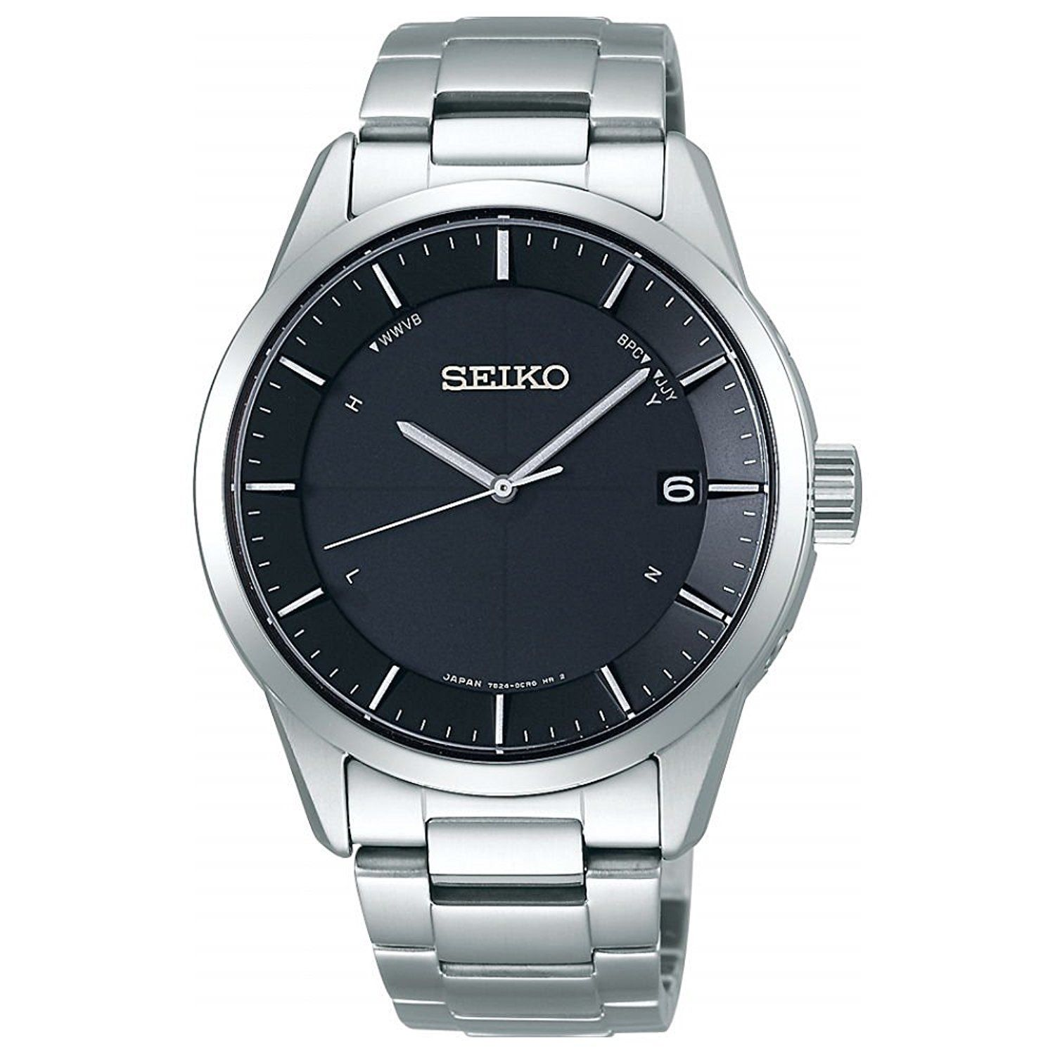 "Image of ""Seiko Selection Sbtm249 Stainless Steel Sapphire Glass Solar Black"""
