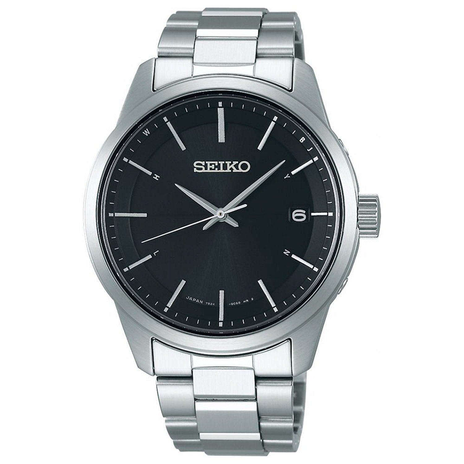 "Image of ""Seiko Selection Sbtm255 Stainless Steel Sapphire Glass Solar Black"""