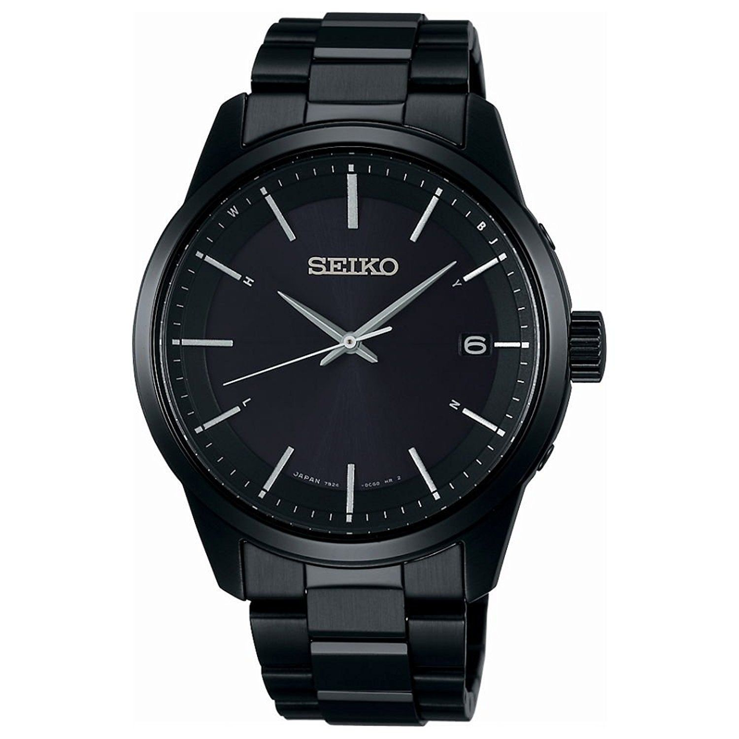 "Image of ""Seiko Selection Sbtm257 Stainless Steel Sapphire Glass Solar Black"""