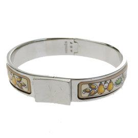 Hermes Silver Tone Hardware & Cloisonne Enamel Loquet Bangle Bracelet