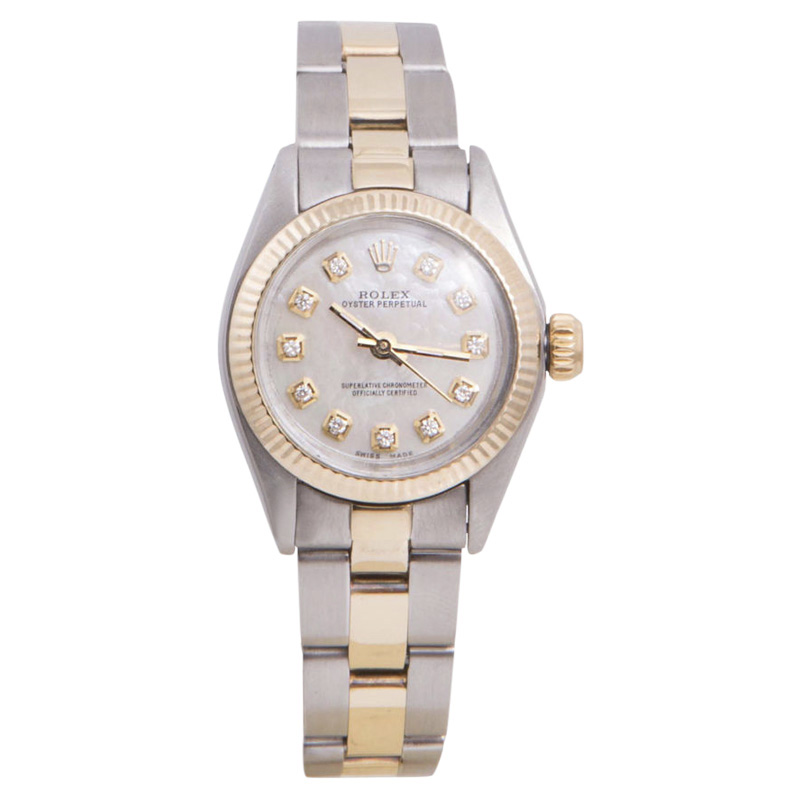 """Image of """"Rolex Oyster Perpetual Yellow Gold / Stainless Steel with Mother Of"""""""