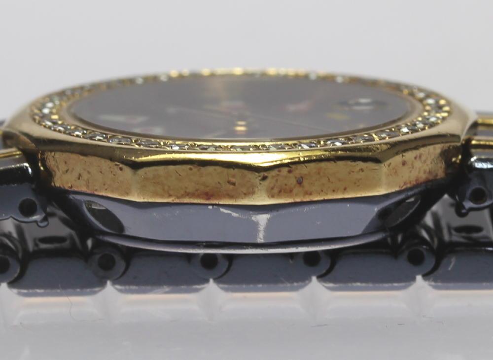 """""Auth Corum Admiral's Cup 39.912.33V52 date diamond bezel SS Quartz"""""" 2187544"