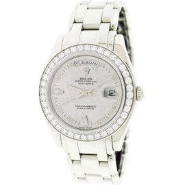 Rolex Day-Date Special Edition 18946 Platinum Meteorite Diamond Dial 39mm Mens Watch