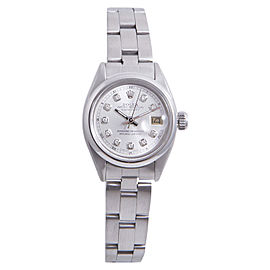 Rolex Datejust Stainless Steel with Silver Diamond Dial 26mm Womens Watch