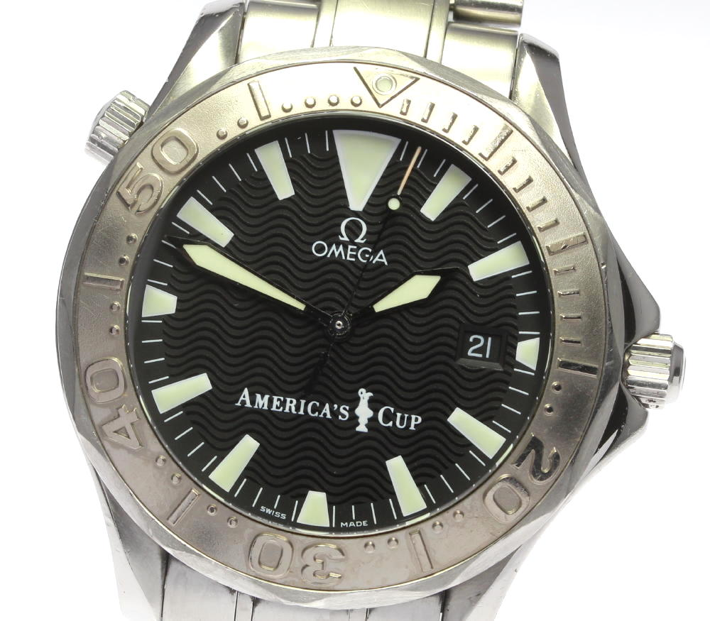 "Image of ""Omega Seamaster America's Cup 2533.50 Stainless Steel with Black Dial"""