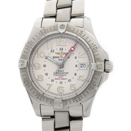 Breitling Colt A32350 Stainless Steel White Dial Automatic 41mm Mens Watch