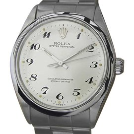 Rolex 1002 Stainless Steel Automatic Vintage 34mm Mens Watch 1974