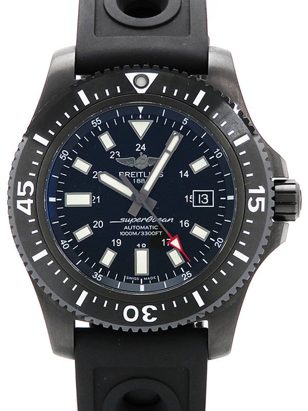 """Image of """"Breitling Superocean 44 Special M17393 Stainless Steel Black Dial 45mm"""""""