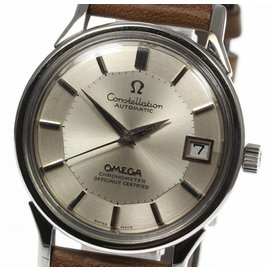 Omega Constellation Stainless Steel & Leather Automatic Mens Watch