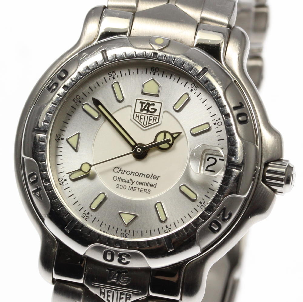 "Image of ""Tag Heuer Diving Watch 6000 Wh5211-K1 Stainless Steel 35mm Mens Watch"""