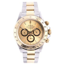 Rolex Oyster Perpetual Daytona 16523 18K Yellow Gold And Stainless Steel with Champagne Dial Automatic 40mm Mens Watch