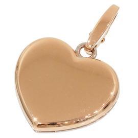 Cartier 18K Rose White Gold Double Heart Pendant