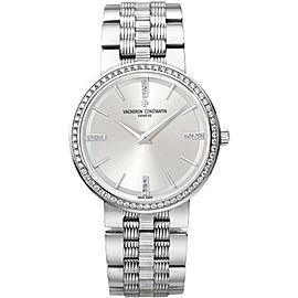 Vacheron Constantin Traditionnelle 25557/Q01G-9276 18K White Gold with Silver Dial 30mm Womens Watch