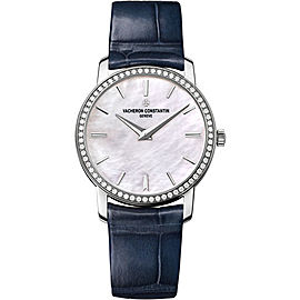 Vacheron Constantin Traditionnelle 25558/000G-B157 18K White Gold with Mother Of Pearl Dial 30mm Womens Watch