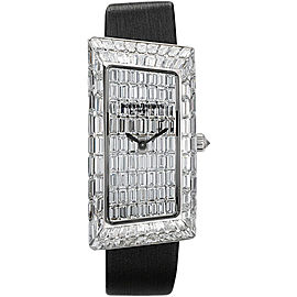 Vacheron Constantin 1972 25611/000G-9304 18K White Gold and Grey Satin with Diamond Dial Mens Watch