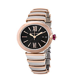 Bulgari Lucea Steel 18K Pink Gold 33mm Ladies watch LU33BSPGSPGD