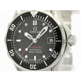 Omega Seamaster Stainless Steel with Black Dial 28mm Womens Watch