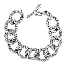 Judith Ripka Sterling Silver Curb Link Bracelet