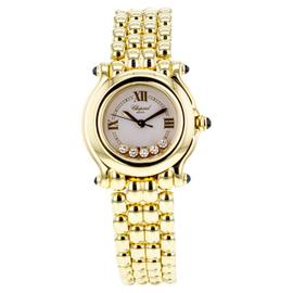 Chopard Happy Sport 999867 24mm 18K Yellow Gold Diamond Bezel