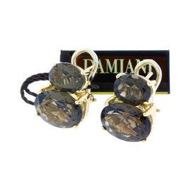 Damiani 18K Rose Gold Smokey Topaz Earrings