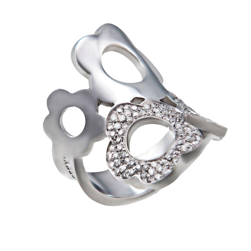"""""Pasquale Bruni Flower Mima 18K White Gold Diamond Ring"""""" 50883"