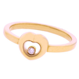 Chopard 18K Rose Gold Happy Diamond Ring