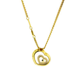 Chopard 18K Yellow Gold Happy Diamond Happy Spirit Necklace