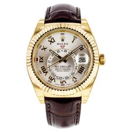 Rolex Sky-Dweller 18K Yellow Gold 326138 42mm Watch