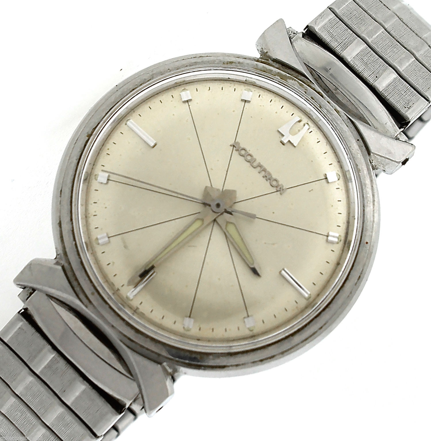 "Image of ""Vintage Bulova Accutron Stainless Steel Watch"""