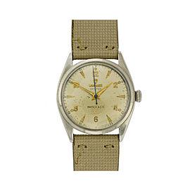 Rolex Vintage 1946 Mechanical Bubbleback Ref. 4365 Stainless Steel Wristwatch